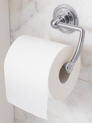 today all toilet paper is wound onto a paper tube made of wood pulp called cardboard referred to as a paper core these simple little cylindrical rolls - Bathroom Paper